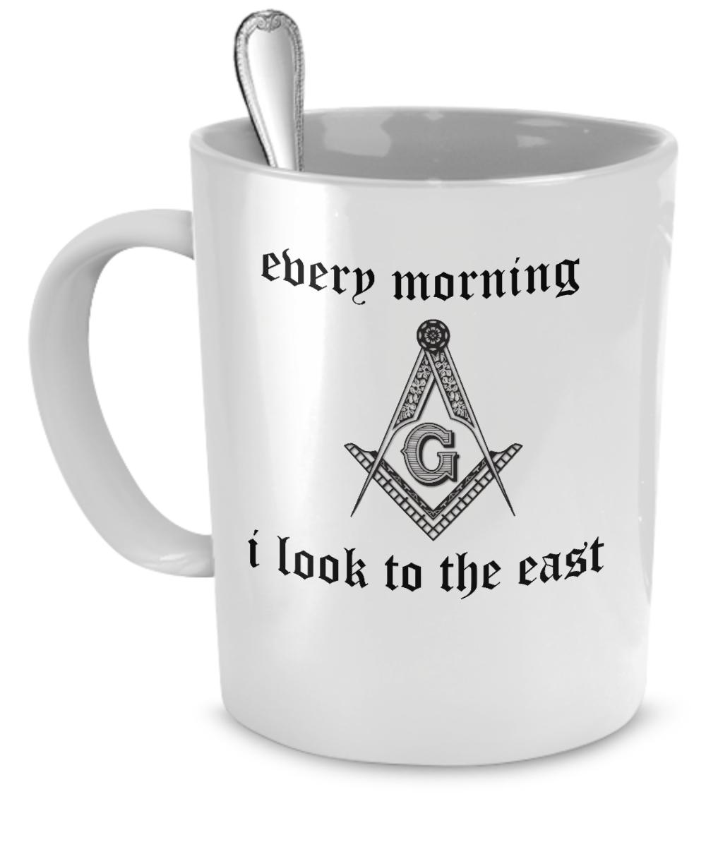 11$ Morning mason mug Masonic Gifts, Masonic Art, Freemasons History, Masons Masonry