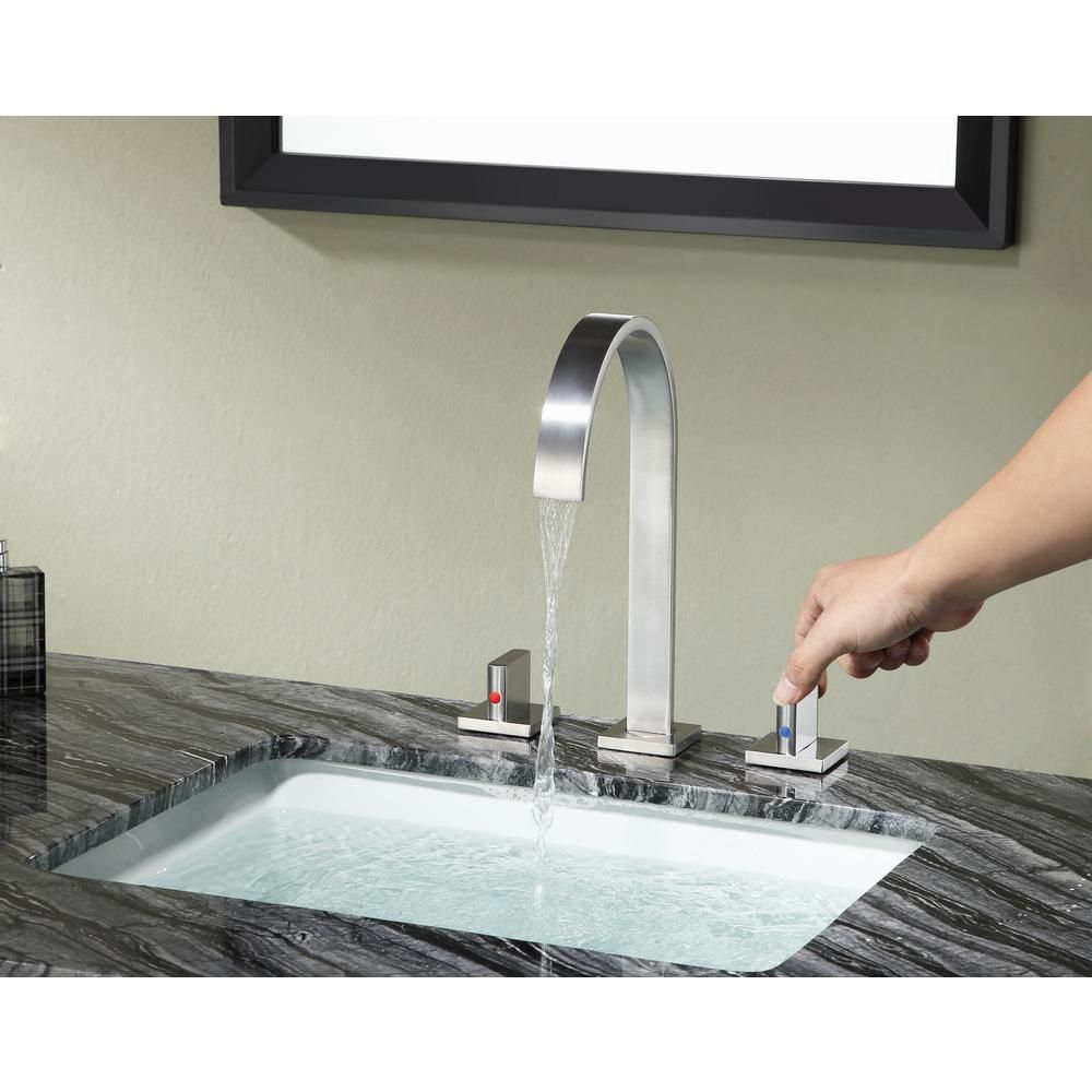 Top 30 Charming French Kitchen Decor Inspirational Ideas: ANZZI Sabre 8 In. Widespread 2-Handle Bathroom Faucet In