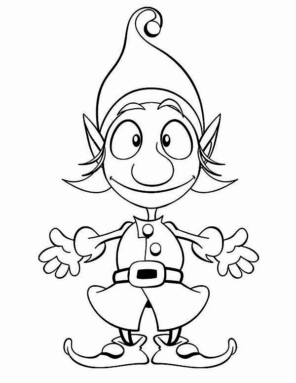 Pin On Elf Coloring Pages