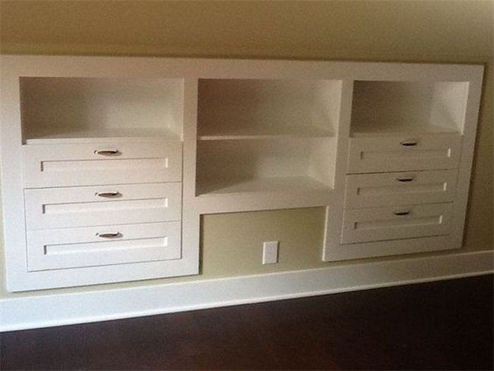 How To Build A Knee Wall Storage Dresser Diy Pinterest