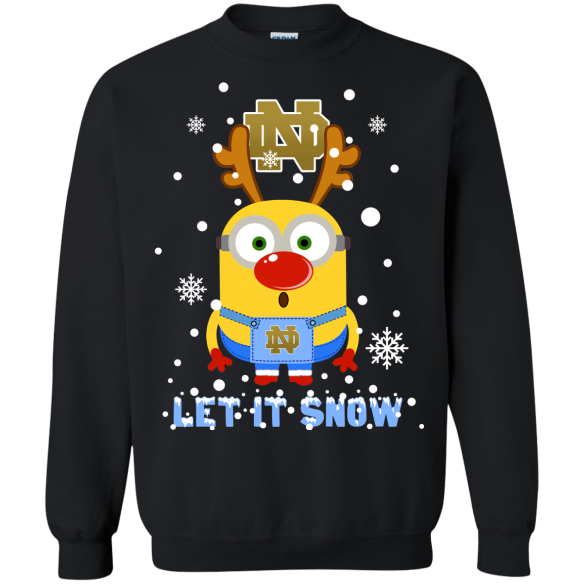 Notre Dame Fighting Irish Minion Ugly Christmas Sweaters Let It Snow ...