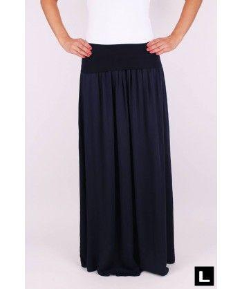 Dlhá sukňa tmavomodrá