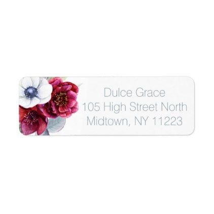 Winter Plaid Personalized Address Label #holidayz - pattern sample - sample address label