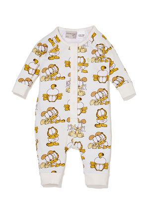 fc8ce6fa2 Your little baby will stay snug in this unisex Garfield onesie featuring  Garfield Baby and Odie Baby. Crafted in a super soft cotton jersey fabric,  ...