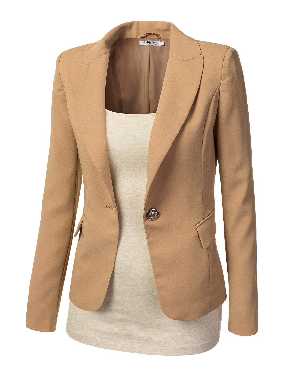 awobl06-beige-1-womens-fitted-blazer-jacket.jpg (1154×1500 ...