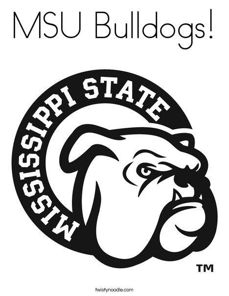 Msu Bulldogs Coloring Page Mississippi State Bulldogs Msu