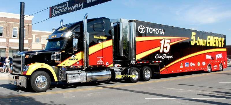 Clint bowyers 15 hauler for 2013 nascar trucks nascar