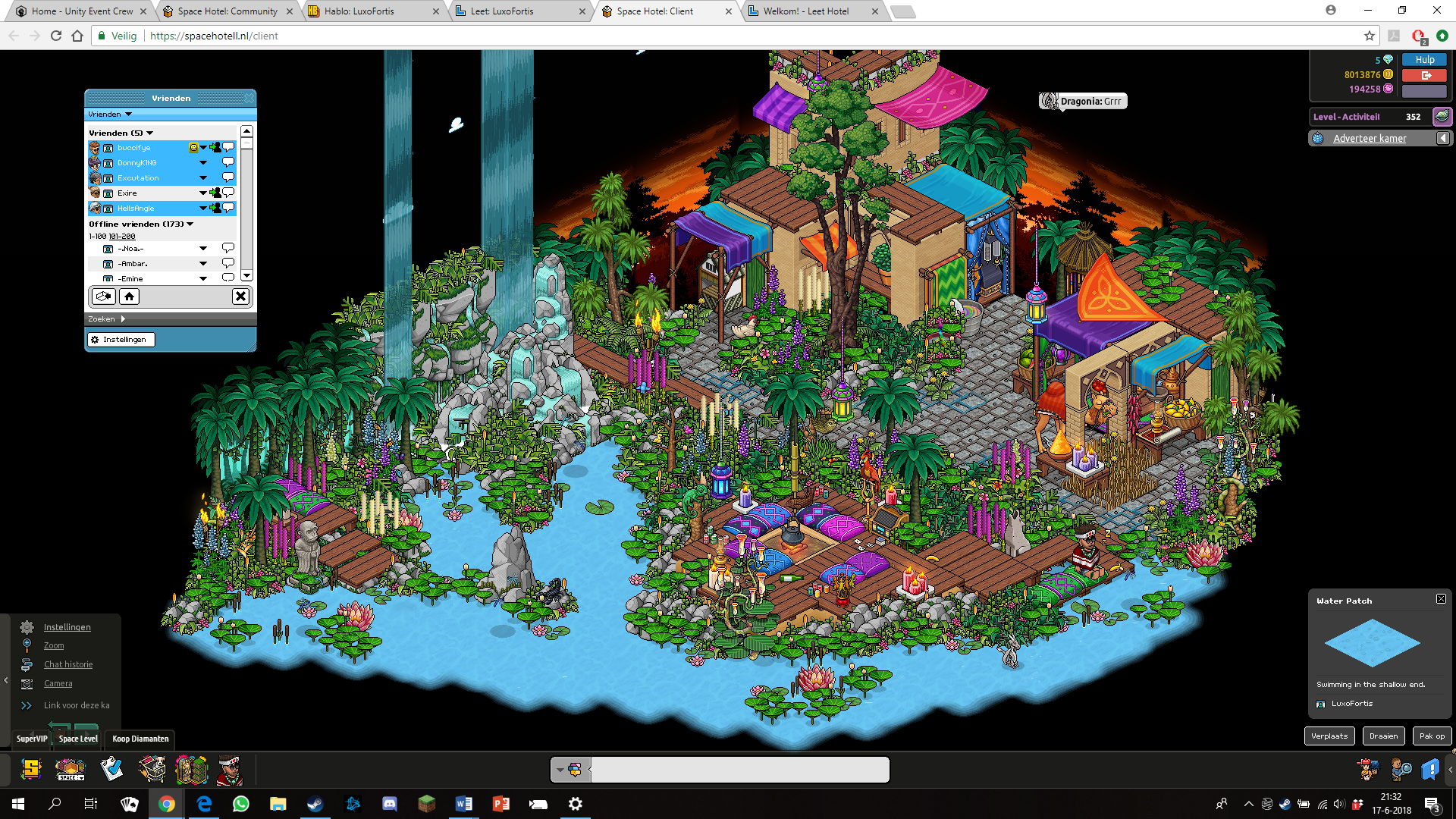 Habbo Slaapkamer Bazaar Thema Retro Hotel Space Habbo Desktop Screenshot Space