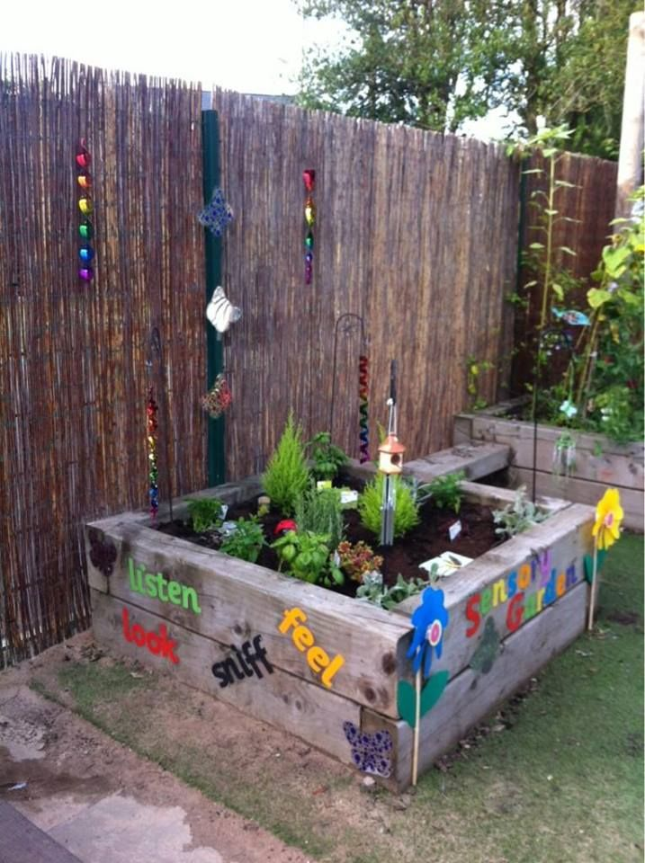 Might Be A Good Idea To Come Up With Garden For The Kids To Grow   Get  Granddaddy To Build An Extra Raised Bed For The Kids. Sensory Herb Garden  By Anya ...