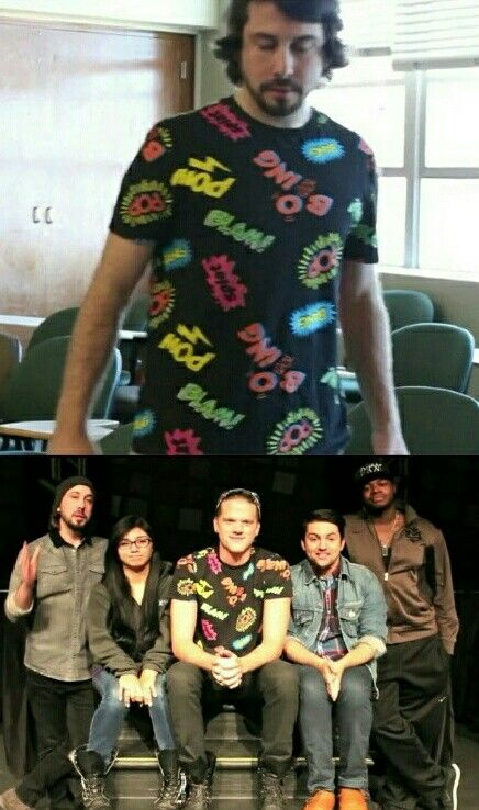 I thought it was Avi's shirt but now I really don't know...