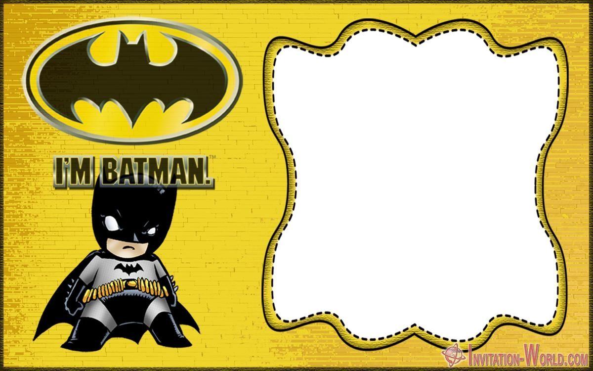 Free Printable Batman Invitation Templates | Batman ...