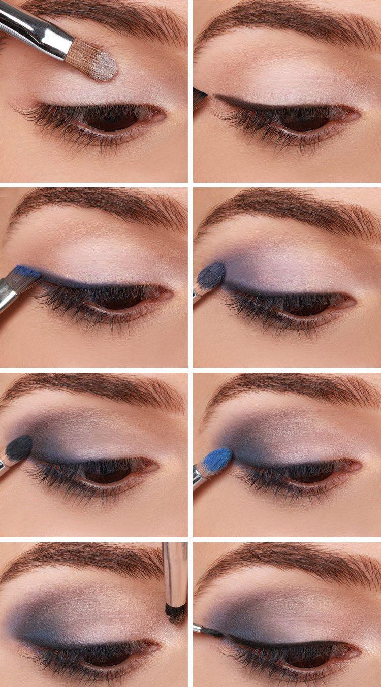 Smokey Eyes Schminken Für Braune Augen Lila Blau Grau Beauty