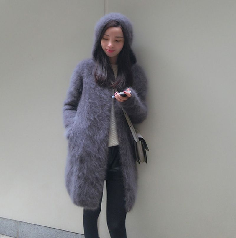 Find More Cardigans Information about Women's long plush mink ...