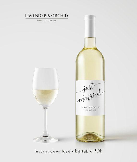 Wine bottle label template, Wine Label Printable, Instant download ...