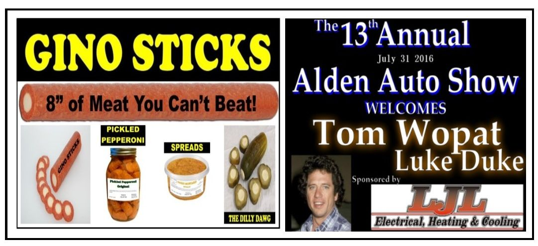 Gino Sticks At The 2016 Alden Auto Show With Tom Wopat Luke