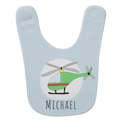 Personalized baby boy helicopter aircraft and name baby bib baby personalized baby boy helicopter aircraft and name baby bib baby gifts giftidea diy unique cute negle Gallery