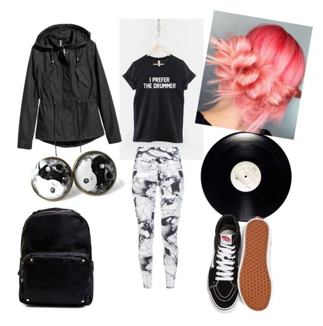 """band shirt"" by megyeria on Polyvore featuring Varley, Vans and Madden Girl"