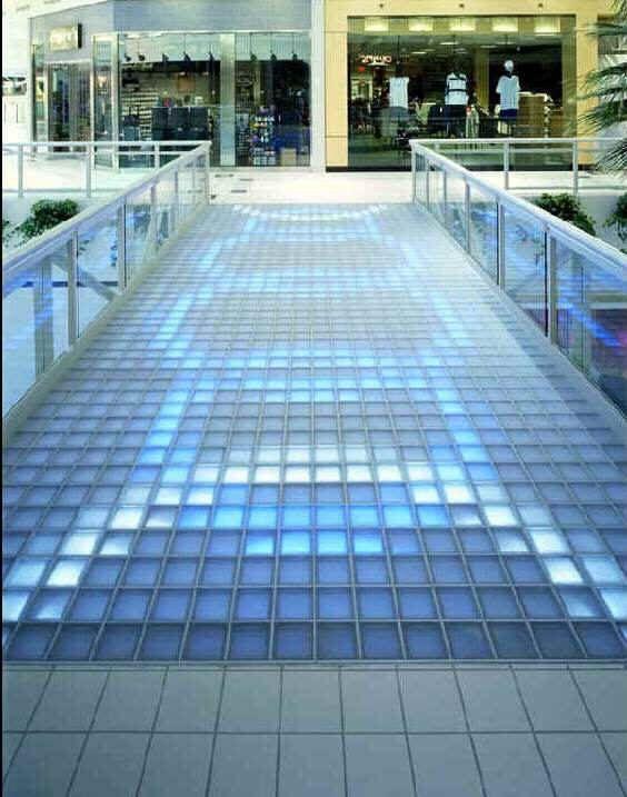 Glass walk floor system glass walk floor systems for Glass block floor