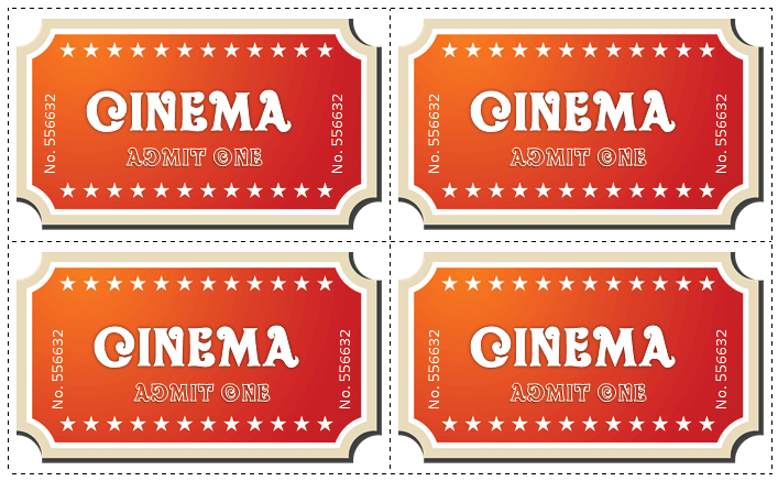 Movie Ticket Template For Word  Summer Camp
