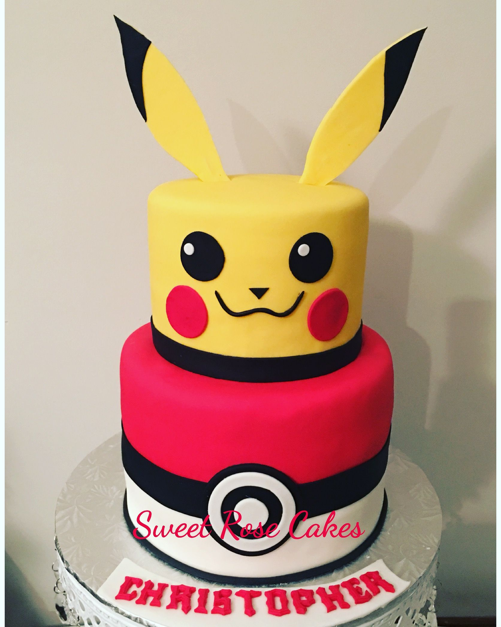 Pikachu pokemon cake fondant pokemongo cake custom cakes by