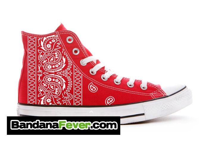 fbe4e810f35f Bandana Fever - Converse Hi Red