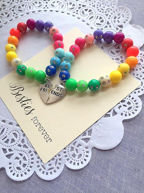 Besties Bracelets Rainbow Jewelry Bracelet Best Friends Friendship Kid