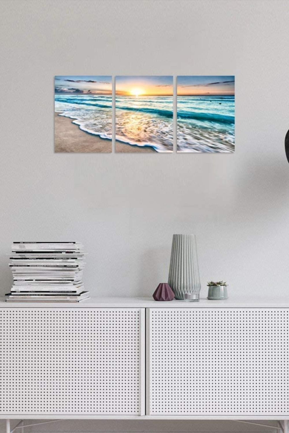 Photo of TutuBeer 3 Panel Beach Canvas Wall Art for Home Decor