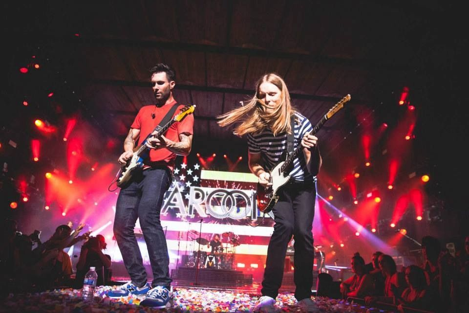 maroon 5 concert adam james CLEVELAND iwasthere Levine