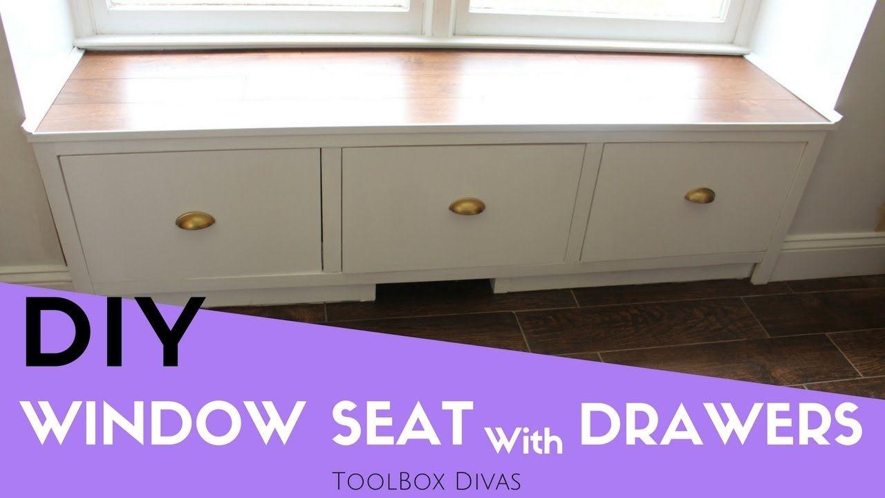 Badezimmer eitelkeiten mit lagerung how to make a window seat with drawers  toolbox divas on youtube