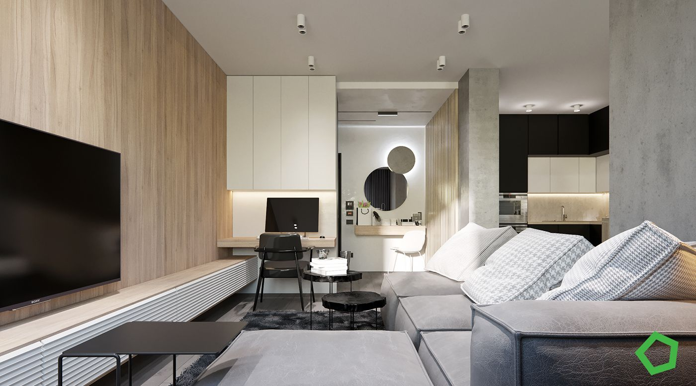 Кухня-гостиная   Дизайн, Квартира, Гостиная