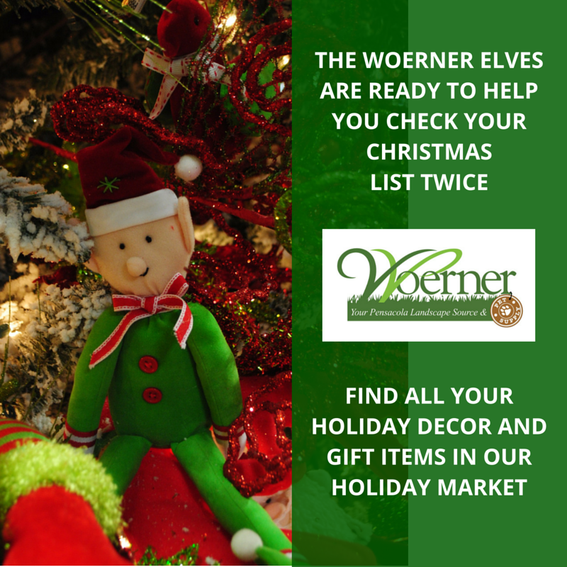 Our #Woerner #Elves are looking forward to helping you with all of your #Christmas #shopping and #decor needs!  We have an incredible selection of #ornaments, #wreaths, Christmas collectables, #nativity scenes, life-size decorations, lights, #ribbon, #garland and more! #Woerner #Pensacola