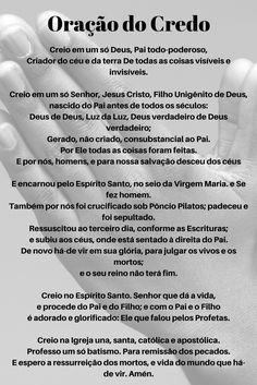 Oracao Do Credo With Images Catholic Prayers Jesus Prayer