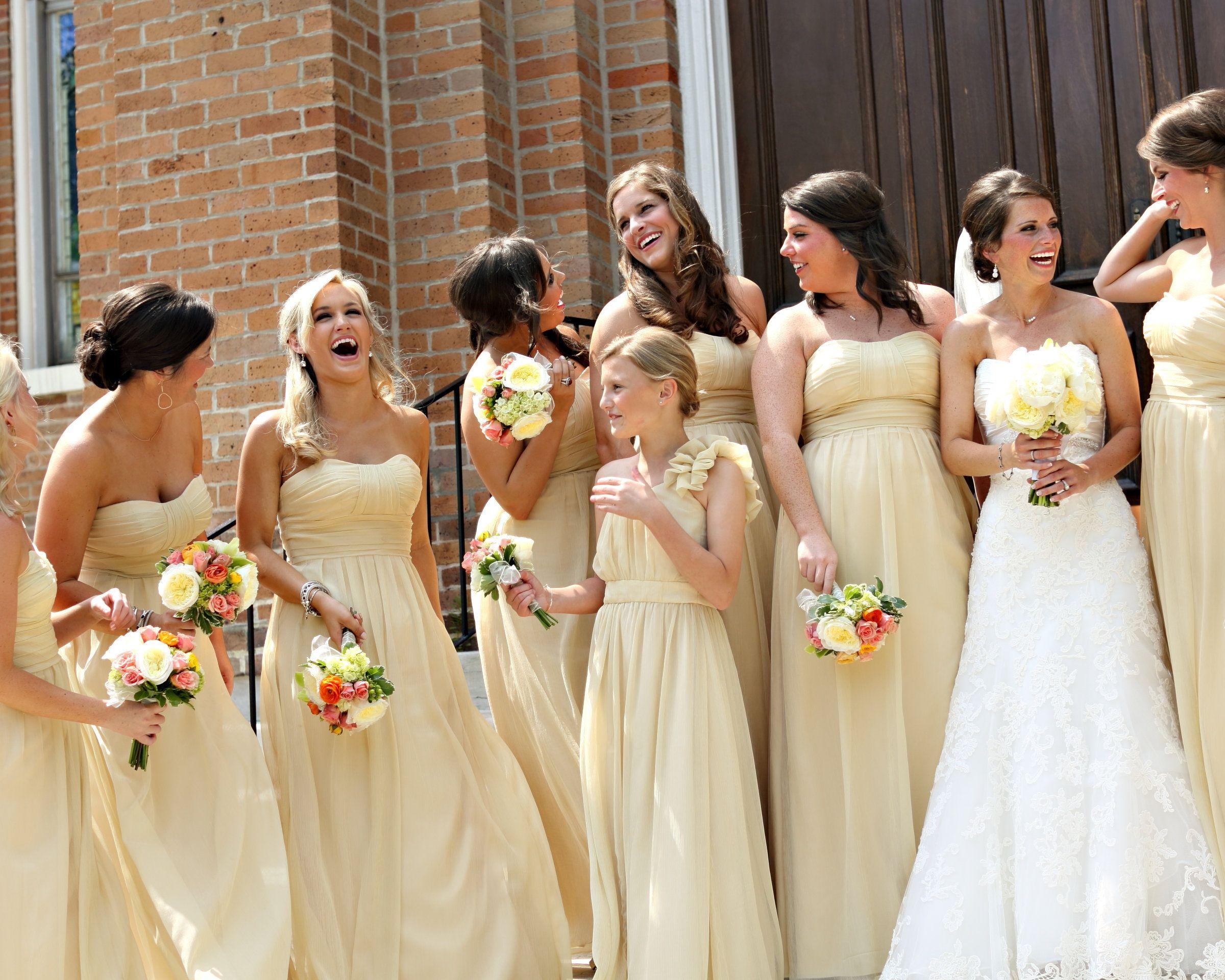 Soft Yellow Bridesmaid Dresses