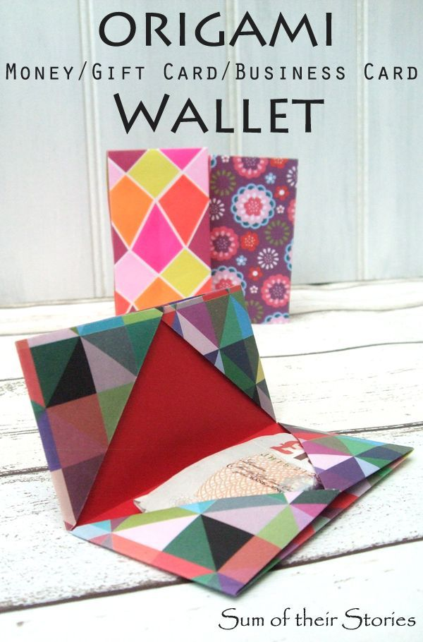 Photo of Origami Cash Gift Wallet – Summe ihrer Geschichten Craft Blog