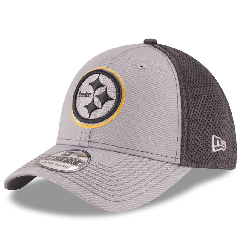 38d2313f Pittsburgh Steelers New Era Grayed Out Neo 2 39THIRTY Flex Hat ...