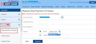 Finance Guru Speaks How To Stop Cheque Payment Through Hdfc