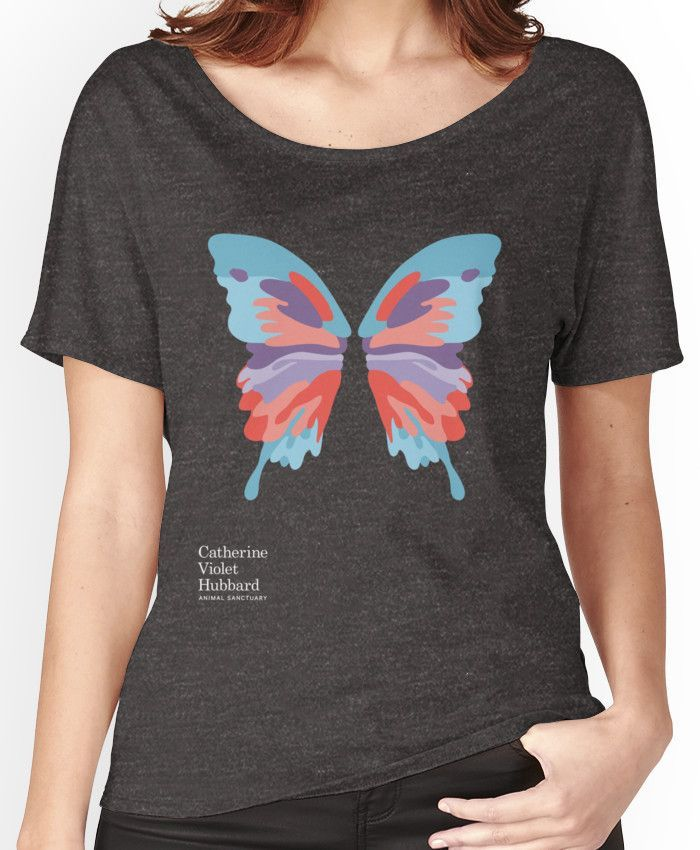 Catherine's Butterfly - Dark Shirts Women's Relaxed Fit T-Shirts