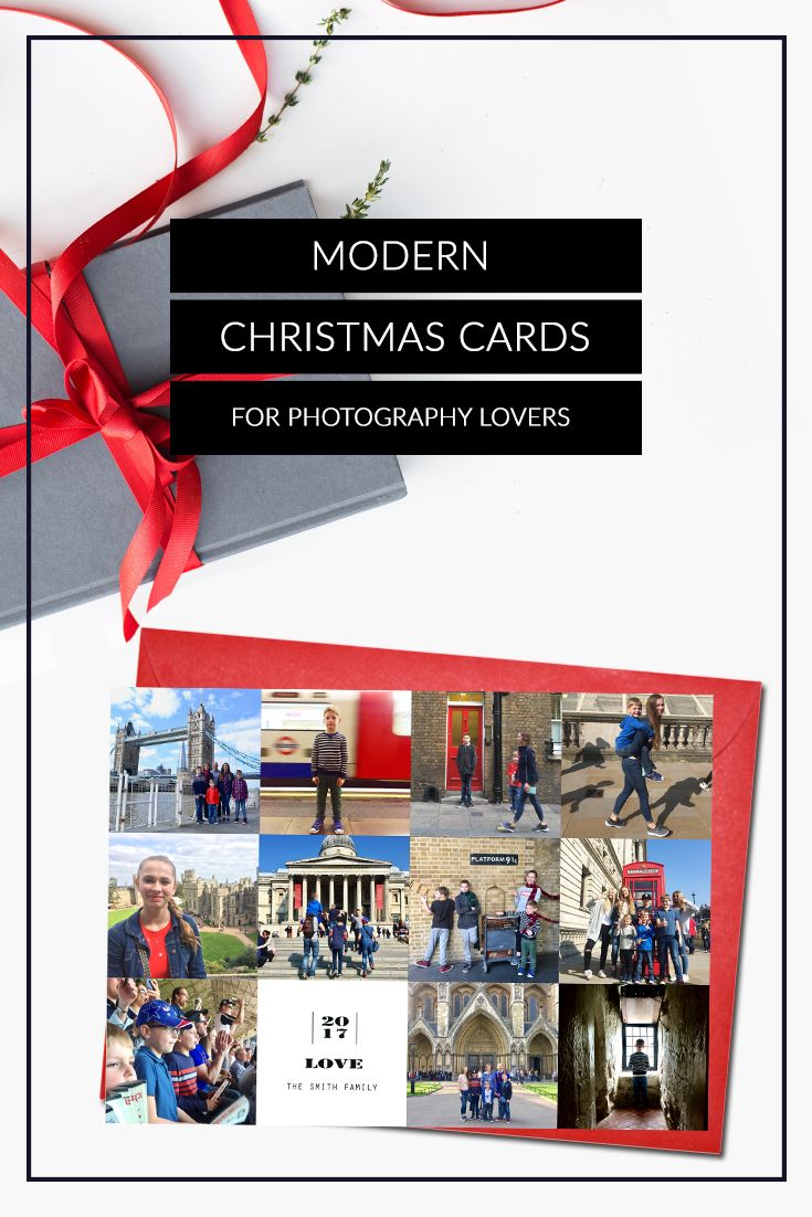 Photo collage Christmas cards | Photo Collage Holiday cards ...