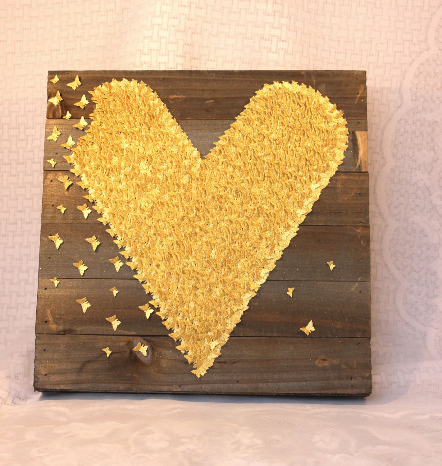 Rustic Wood/ Gold Wall Decor/ 3D Wood Decor/ Wall Art Decor/Little ...