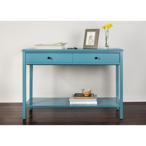 Windham Console Table Teal Threshold Console Table Blue Console Table Dining Room Storage