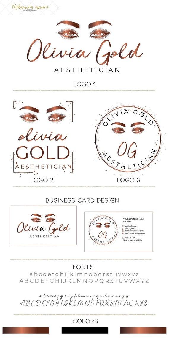 Lash extensions artist logo Makeup artist logo Eyelashes logo