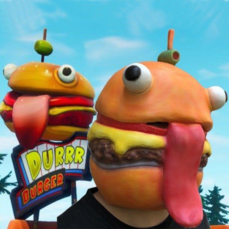 new fortnite beef boss mask cosplay durr burger costumes fortnite face adult - fortnite beef boss head