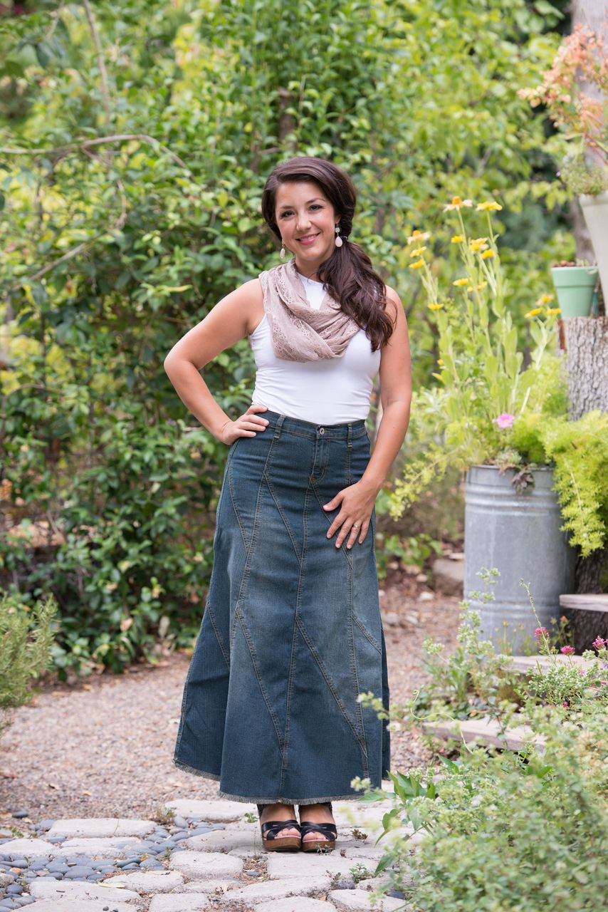 14d0f391669ae Modest Fashion - Vintage Wash Denim Skirt - @ Deborah & Co ...