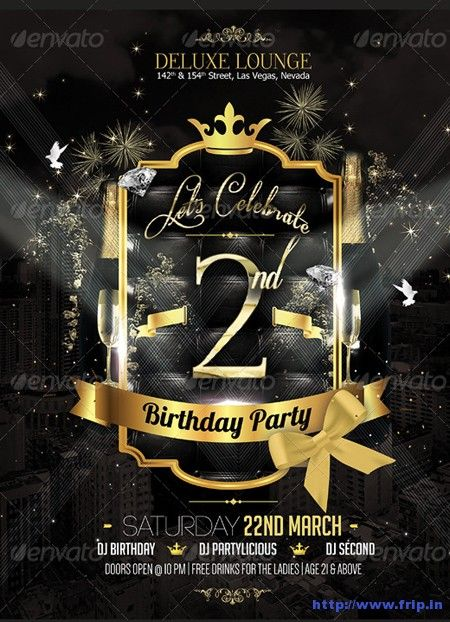 Free Templates For Bday Party Flyer | 44). Birthday Party Flyer