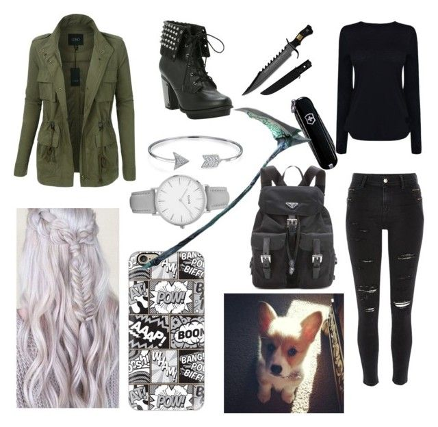 """Bailee"" by justjayde ❤ liked on Polyvore featuring River Island, Helmut Lang, LE3NO, Casetify, Victorinox Swiss Army, Corgi, Prada, Bling Jewelry and Topshop"