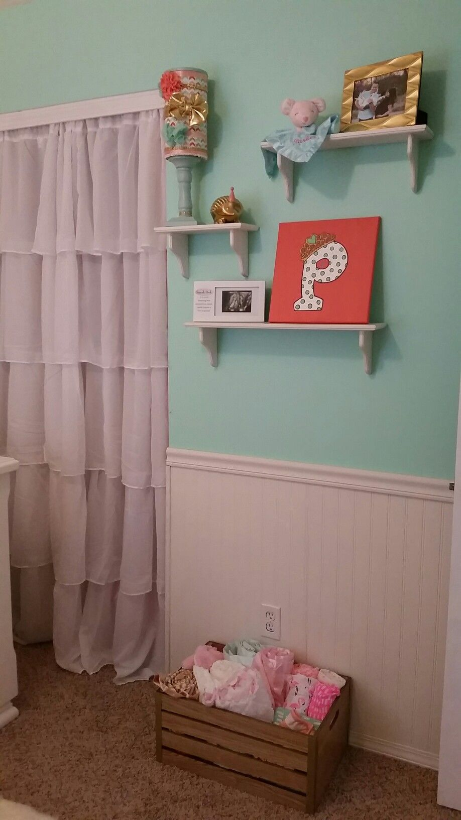 pin curtains and coral gold girl p nursery baby curtain mint target