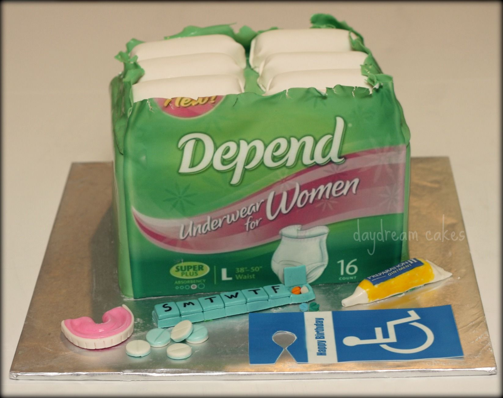 Depends cake for women Depend cake for a woman turning 50