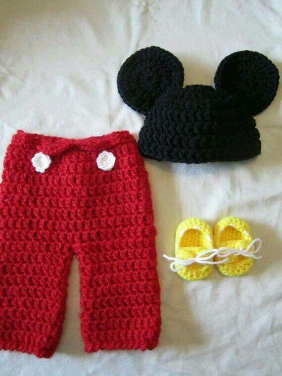 Mickey mouse | Crochet-Baby | Pinterest
