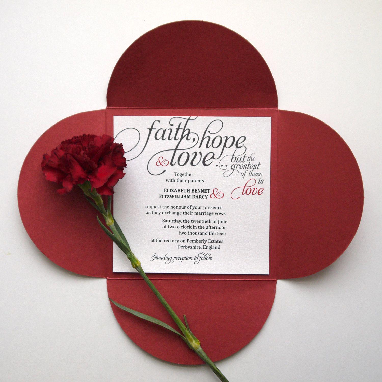 Love Quotes Wedding Invitation Faith  Hope  Love Calligraphy Wedding Invitation  Tattoo
