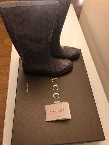 a19c859bbf8 Gucci-Women-Rain-Boots-Size-37-Light-Blue-Dust-Bag-amp-Box